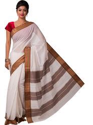Ishin Cotton Printed Saree - White - SNGM-2451