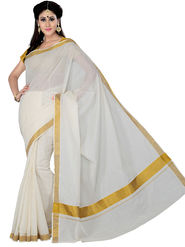Ishin Cotton Printed Saree - Off White - STCS-2137