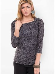 Kaxiaa Poly Lycra Printed Top -K-TO-21000C