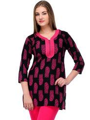 Arisha Cotton Printed Kurti KRT6030_Pnk