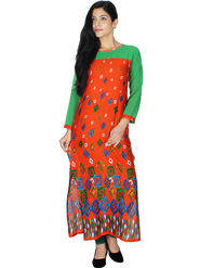 Arisha Solid Rayon Long Straight Kurti -ars61