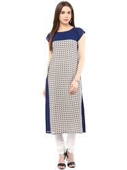 Arisha Printed Georgette Straight Kurti -ars113