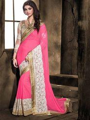 Viva N Diva Georgette Floral Embroidery Saree -Kalki-03-3003