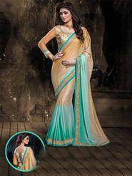 Viva N Diva Crepe Floral Embroidery Saree -Kalki-03-3007