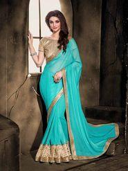 Viva N Diva Crepe Floral Embroidery Saree -Kalki-03-3015