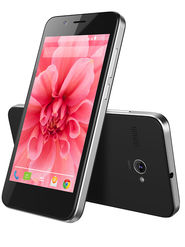 Lava Iris Atom2 Quad Core Processor, 5 MP Camera with Largan lens , Android KitKat (Upgradable to Lollipop) - Black