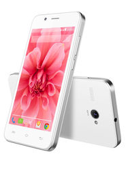 Lava Iris Atom2 KitKat Quad Core Processor (Upgradable to Lollipop) - White