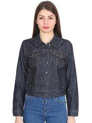 Levis Solid Denim Blue Jacket -os06