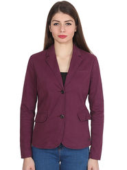 Levis Solid Cotton Wine Blazer -os08