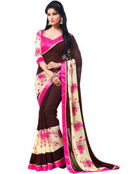 Nanda Silk Mills Cute Work Printed Saree With Blouse Piece Pure Georgette _MK-2407
