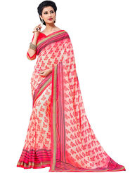 Nanda Silk Mills Cute Work Printed Saree With Blouse Piece Pure Georgette _MK-2414