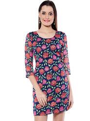 Meira Printed Poly Chiffon Women's Dress - Multicolour _ MEWT-1072-B-Multi