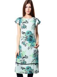 Meira Printed Crepe Women's Dress - Multicolour _ MEWT-1190-A-Multi