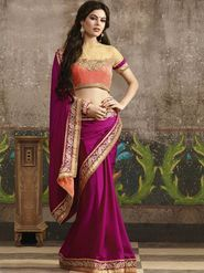 Zoom Fabrics Jacquard Embroidered Saree -N1618