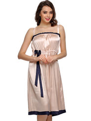 Clovia Satin Solid Nighty -NS0543P16