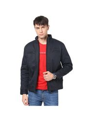 Orewa Solid Cotton Jacket For Men_1007 - Black
