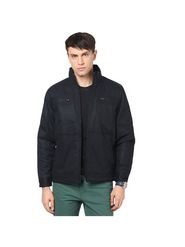 Orewa Solid Cotton Jacket For Men_1013 - Black