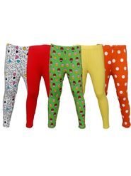 Pack of 5 Little Star Girl's Multicolor Leggings - PO5L_109