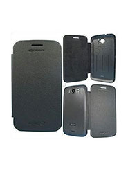 RKA Leather Flip Cover for  Micromax A110 Canvas 2 - Black