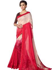 Nanda Silk Mills Linen Printed Saree Sap-1109