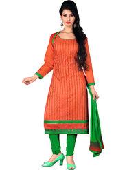 Khushali Fashion Chanderi Embroidered Unstitched Dress Material -SDSN8010
