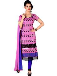 Khushali Fashion Chanderi Embroidered Unstitched Dress Material -SDSN8011