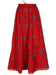 Amore Printed Cotton Skirt -Skv037R