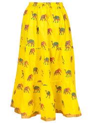 Amore Printed Cotton Skirt -Skv038Y