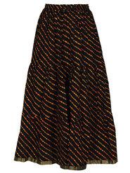 Amore Printed Cotton Skirt -Skv047Bk