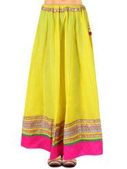 Amore Embellished Cotton Skirt -SKV056Y