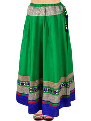 Amore Embellished Cotton Skirt -SKV078G