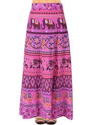 Amore Printed Cotton Skirt -SKVW23NP