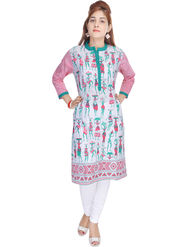 Shop Rajasthan Printed Cotton Straight Kurti -Sre2272