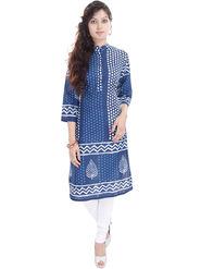 Shop Rajasthan Printed Cotton Straight Kurti -Sre2440