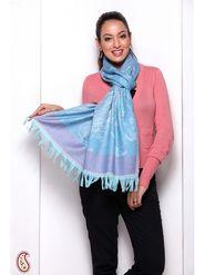 Aapno Rajasthan Pashmina  Baby Blue Shawl -St1310