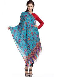 Aapno Rajasthan Pashmina  Blue Shawl -St1432
