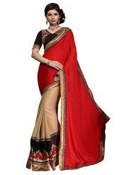 Khushali Fashion Georgette Embroidered & Embellished Saree -Stpnhr10010