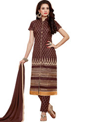 Thankar Semi Stitched  Cotton Embroidery Dress Material Tas280-2308