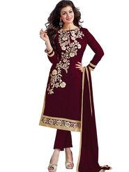 Thankar Semi Stitched  Chanderi Cotton Embroidery Dress Material Tas290-5307I