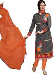 Thankar Semi Stitched  Chanderi Silk Embroidery Dress Material Tas308-6110