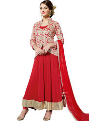Thankar Embroidered Georgette Semi-Stitched Anarkali Suit -Tas323-1014 J