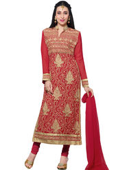 Thankar Embroidered Faux Georgette Semi-Stitched Suit� -Tas331-20018