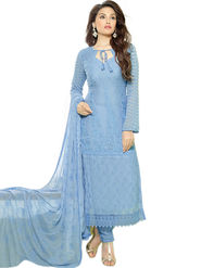 Thankar Embroidered Pure Chiffon Semi-Stitched Suit  -Tas334-2153