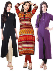 Combo Of 3 Thankar Semi Stitched Kurti - thk-06