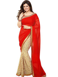 Thankar Embroidery Georgette Saree -Tds132-16632