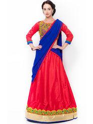 Triveni Graceful Red Art Silk Lehenga Choli_Ts13282