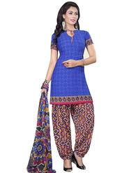 Triveni's Crape Printed Dress Material -TSLCSK9122