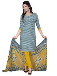 Triveni's Crape Printed Dress Material -TSLCSK9124