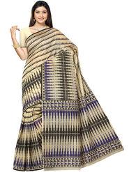 Triveni Printed Cotton Beige Saree -tsb54
