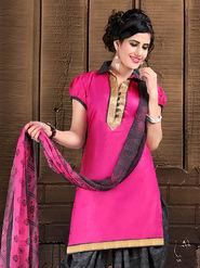 Viva N Diva Semi Stitched Cotton Lace Work Embellished Suit Tanaz-101